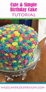 How Decorate Cake At Home Best 25 Simple Birthday Cakes Ideas On Pinterest Birthday Cakes
