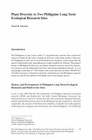 Long Term Substitute Resume Plant Diversity In Two Philippine Long Term Ecological Research