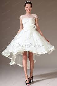 high low wedding dress with sleeves edressit sheer top cap sleeves high low wedding dress 01140207