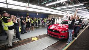 michigan mustang 2015 ford mustang production begins in flat rock marketwatch