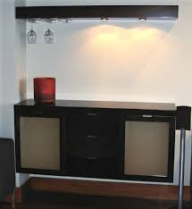 Floating Bar Cabinet Entertaining Bar Accent Custom Furniture