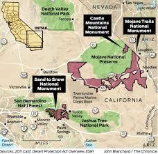 Joshua Tree California Map Obama Designates 3 New National Monuments In California Desert