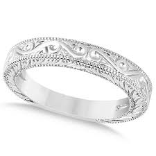 unique wedding bands for women women s unique filigree wedding bandmilgrain edge platinum allurez