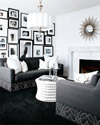 Interior Design Old Hollywood Glamour Style At Home - Black and white family room