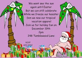 christmas holiday tropical party invitations 2017