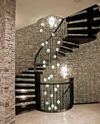 Interior Stair Lights Dramatic Cascading Chandeliers Unleash Visual Splendor And Pomp