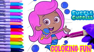nick jr bubble guppies molly coloring page fun coloring activity