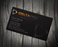 serious modern business card design for delta pro industries pty