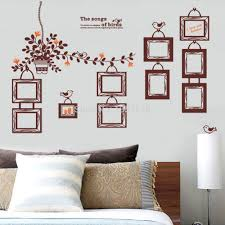 wall decal sticker tree removable family photo frames clock with online get cheap removable wall decal frames aliexpresscom wall decals with picture frames