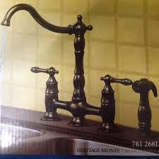 pegasus kitchen faucets kitchen faucet pegasus 9000 classic bridge in heritage bronze 781