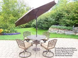 patio table sets with umbrella