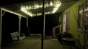 easy cheap patio lighting using lights