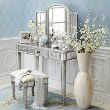 Silver Bedroom Vanity Exquisite Small Sized Vintage Silver Dressing Table Vanity With