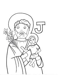st joseph the worker religion st joseph coloring pages printable