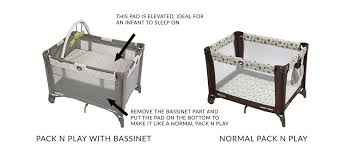 pack and play with bassinet and changing table graco pack n play bassinet vs pack n play travel lite with stages
