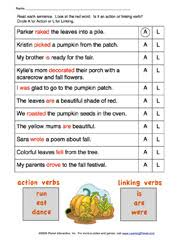 action and linking verbs worksheets worksheets