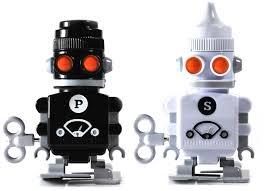 novelty salt and pepper shakers amazon com suck uk wind up robot salt pepper shakers salt and