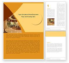 hotel restaurant word template 05392 poweredtemplate com