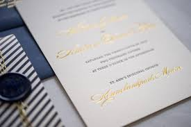 expensive wedding invitations preppy and nautical gold foil wedding invitations