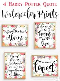 harry potter quote watercolor prints the scrap shoppe