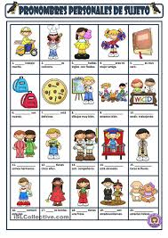 subject personal pronouns spanish instruction materials