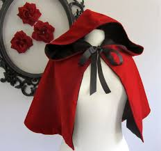 red riding hood cape womens red hooded cape little red