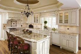 Kitchen Cream Cabinets Cream Kitchen Cabinets With Chocolate Pin Glaze With Unique Almond
