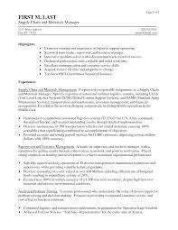 Logistics Management Specialist Resume Police Specialist Sample Resume Resume Templates