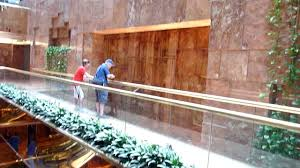 Trump Tower Ny New York Waterfall In Trump Towe On The 5th Avenue Youtube