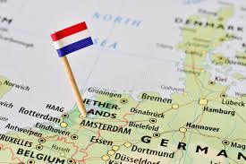 netherlands map flag netherlands flag on map stock image image of europe 57581903