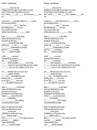 ed sheeran perfect text song perfect ed sheeran tenses recorded music pop music