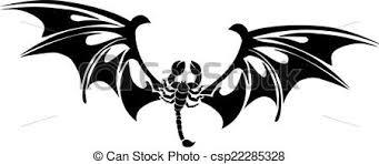 scorpion tattoo design vintage engraving tattoo design of
