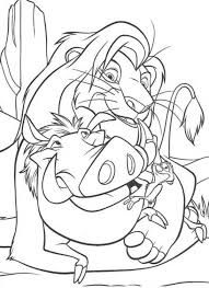 simba timon and pumbaa mud bath the lion king coloring page