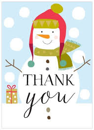 christmas thank you cards pack of 8 snowman christmas thank you cards karenza paperie