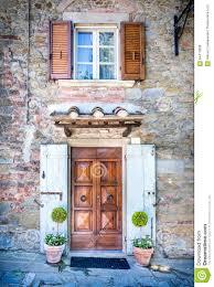 facade of tuscan house stock photo image 64414586