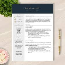 Google Template Resume Professional Resume Template For Ms Word Apple Pages Google Docs