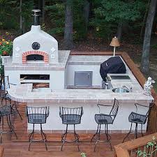 stone and tile outdoor kitchen design archadeck outdoor living