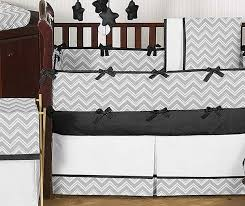 Gray Chevron Crib Bedding Zig Zag Black Gray Chevron Print Crib Bedding Set Blanket