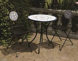 Patio Umbrellas B Q by Furniture Simple Hexagonal Blue Mosaic Bistro Table Set