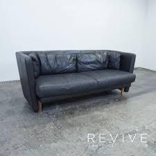 echtleder sofa leolux designer leder sofa zweisitzer schwarz echtleder