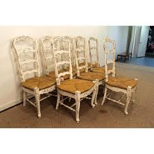 French Country Outdoor Furniture by French Country Ladder Back Dining Chairs Set Of 8 Chairish