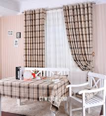 Beige And Gray Curtains And Gray Classic Casual Plaid Winter Plaid Curtains