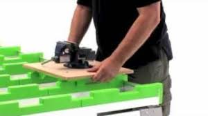 portable track saw table benchmark portable work table work bench cutting table youtube