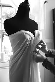 Draping On A Dress Form Alena Fede Fashion Wedding How A Dress Is Made Wedding