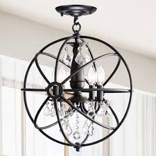 Crystal And Bronze Chandelier Create A Stunning Focal Point In Your Home With This 4 Light Iron
