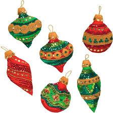 bucilla glitzy ornaments felt applique kit 86725