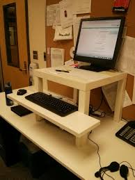 Ikea Standing Desk Hack by Desk Ikea Stand Up Desk Within Imposing The Best Ikea Standing
