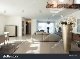Modern Apartment by Interior Modern Apartment Comfortable Living Room Stock Photo