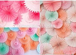 cheap paper fans cheap 40pcs 8inch 20cm tissue paper fan home garden decor crafts