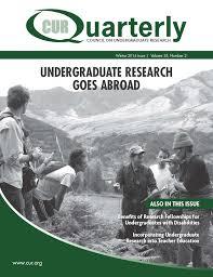 publications curquarterly council on undergraduate research
